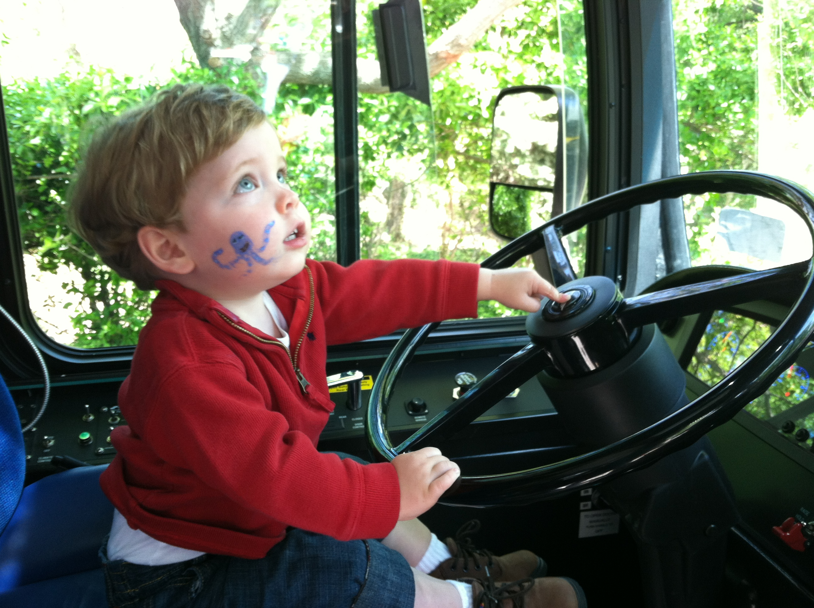 Little Boy Riding A Metro Bus At The Truck Touch Dc Area Family Event