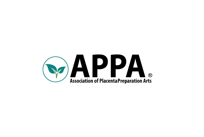 picture of APPA logo, an organization that is dedicated to provide training to ensure the safety of placenta encapsulation